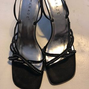 Used, Parade of shoes- satin based sling back with Rhine for sale
